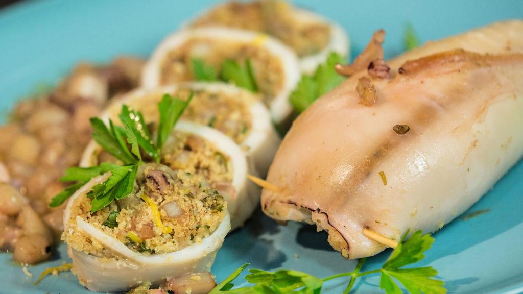 Calamari ripieni: Ricetta