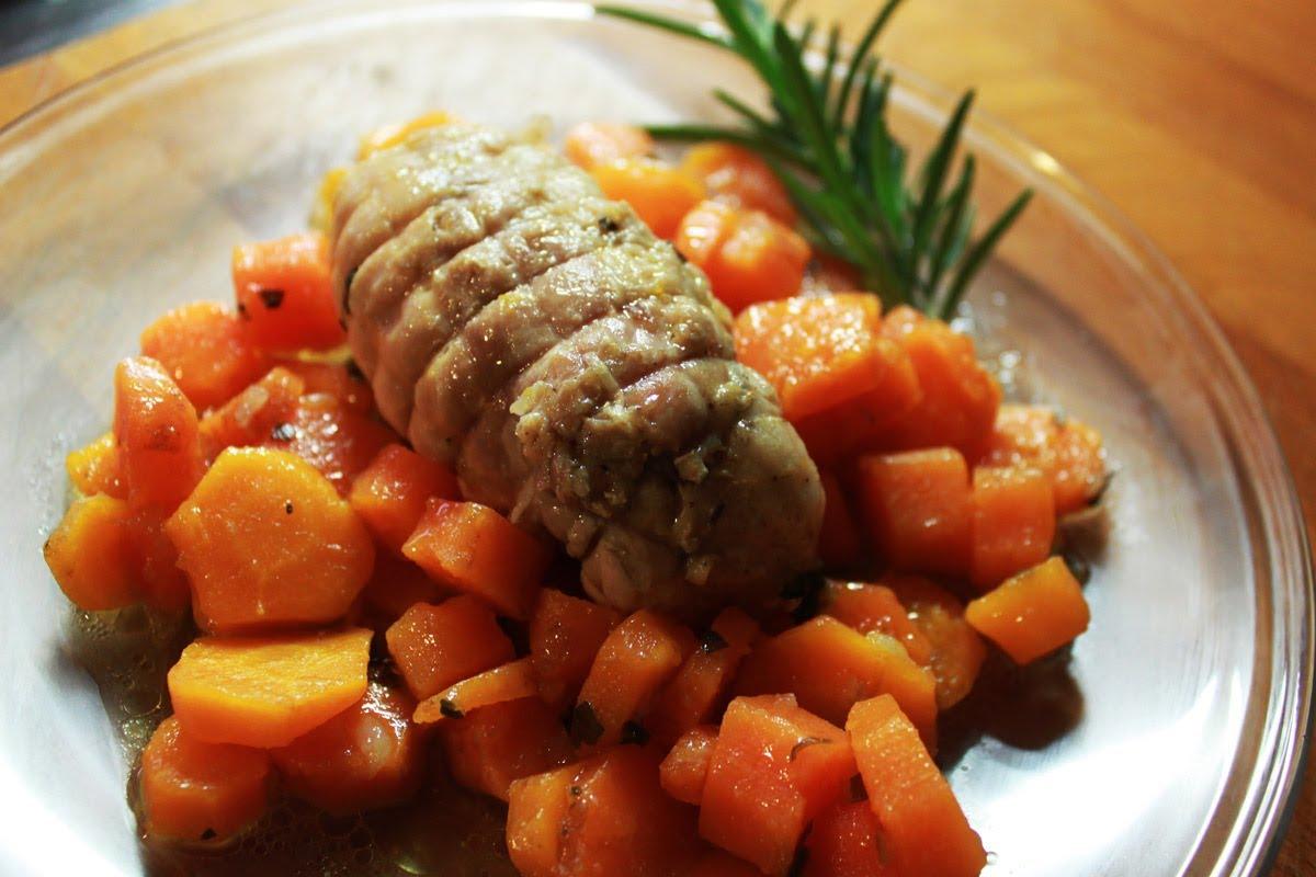 involtini di pollo con carote