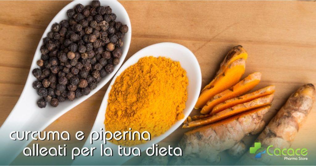 Piperina e curcuma: Per dimagrire e curare malattie infiammatorie croniche
