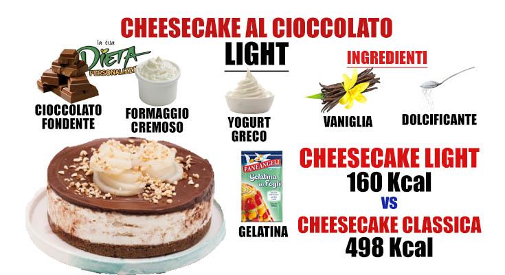 Cheesecake al cioccolato light! Come preparare questo delizioso dessert