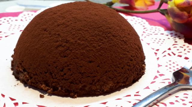 tartufo al cioccolato e caffè light