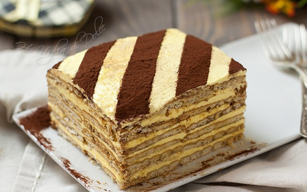 Torta Mattonella con crema pasticcera. La Ricetta Light di 280 Kcal!