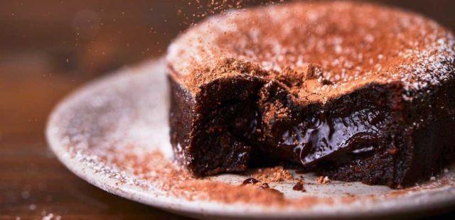 Torta al cioccolato fondente light
