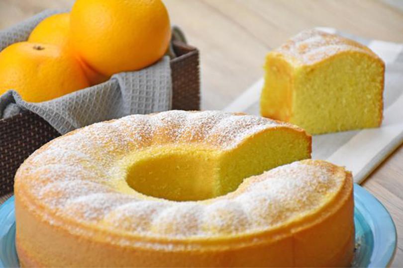 Torta all'acqua all'arancia: la ricetta light di 200 Kcal!