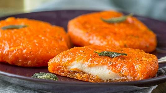 Cotoletta di zucca light al ripieno filante: la ricetta di 90 Kcal!