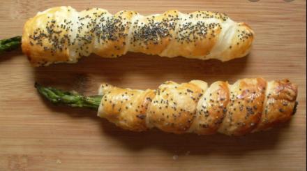 Antipasti veloci: Involtini di asparagi e pasta sfoglia