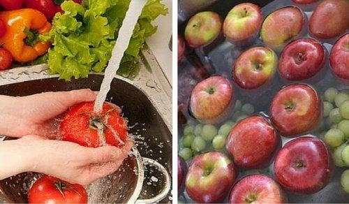 Come eliminare i pesticidi da frutta e verdura
