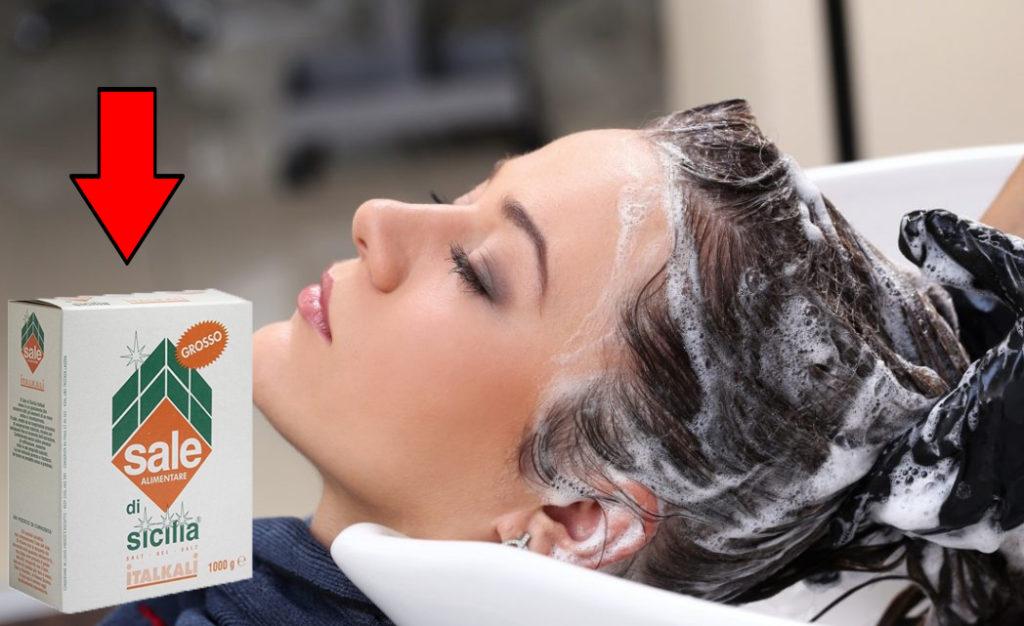 Sale grosso nello shampoo: ecco perché dovresti metterlo e quanto!