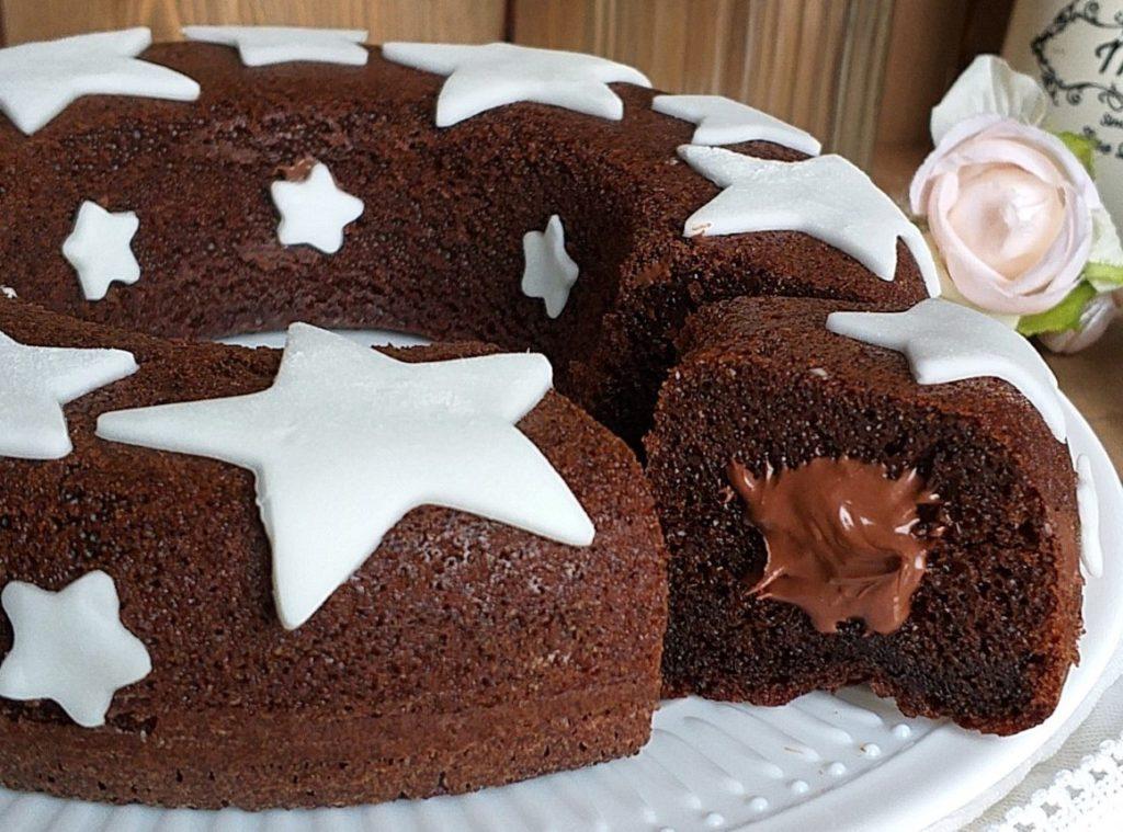 Ciambella pan di stelle e cioccolato