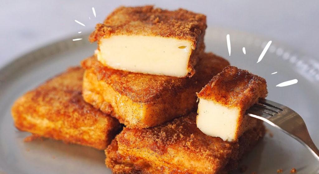 Il latte fritto, un dolce cremoso all'interno e croccante fuori. Solo 110 calorie!
