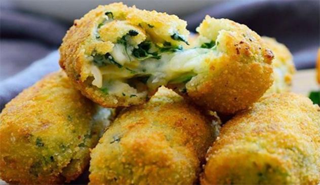 Le crocchette di spinaci con cuore filante, una ricetta gustosa e veloce. Solo 60 calorie a crocchetta!