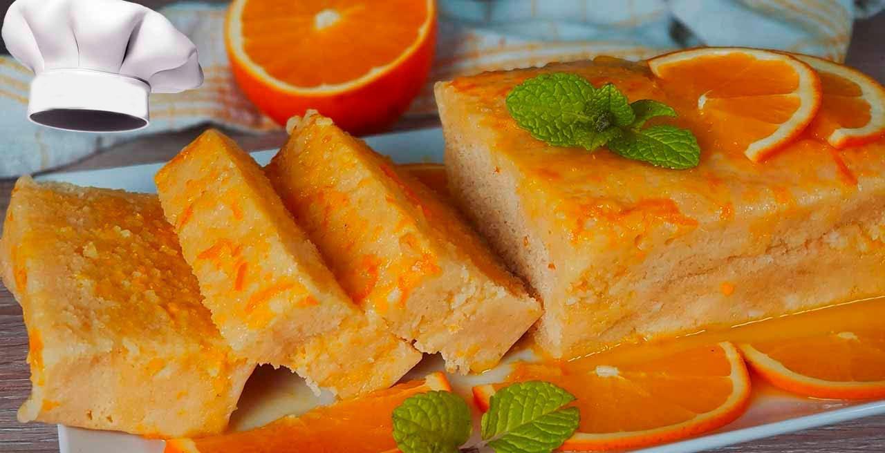 Pan di spagna all'arancia