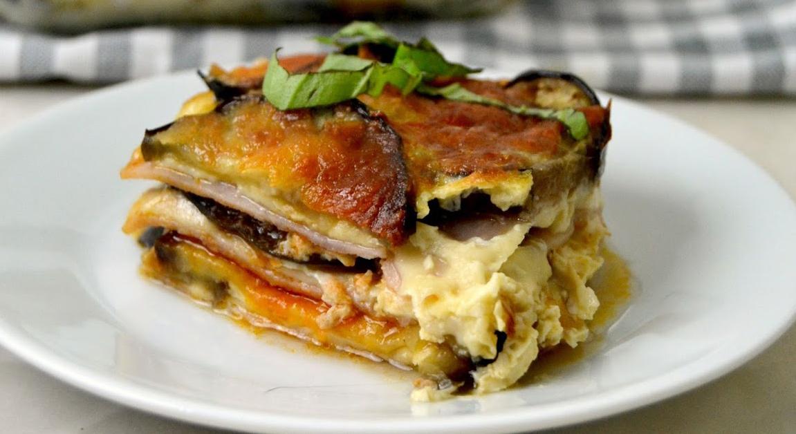 Melanzane gratinate con prosciutto e formaggio