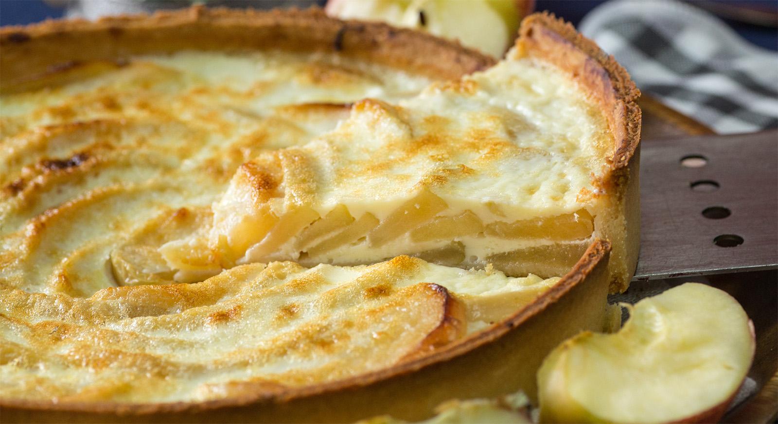 Torta di mele senza farina, burro e olio