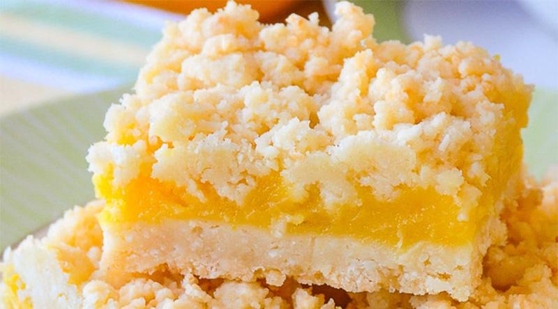 Sbriciolata al limone senza burro, un dolce gustoso e sfizioso son sole 200 calorie!