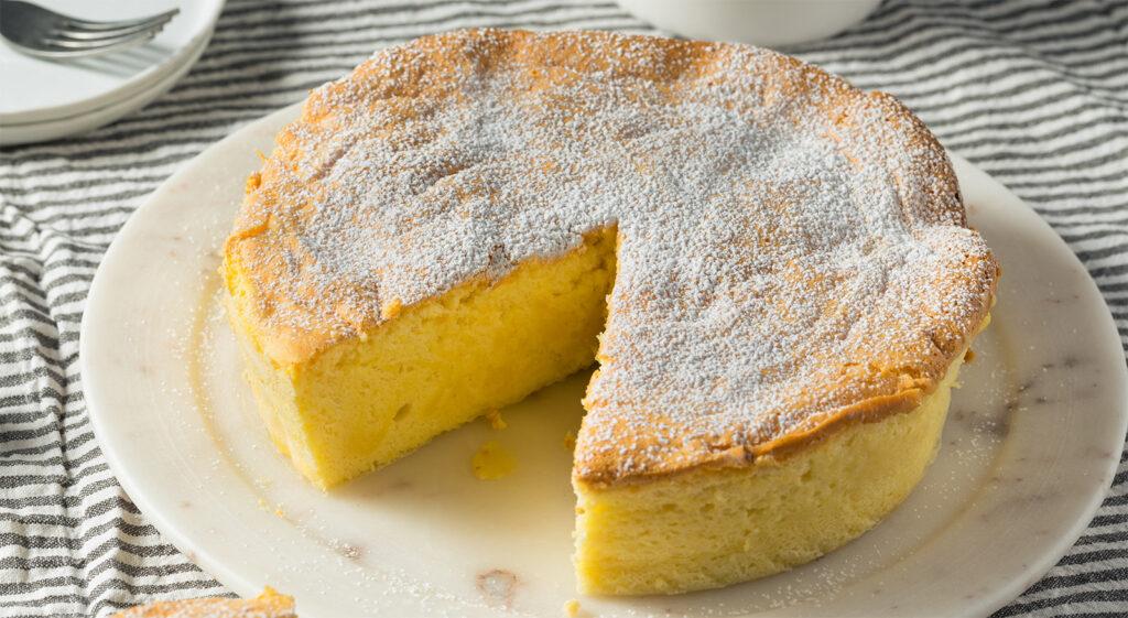 La torta paradiso senza burro e latte, un dolce gustoso e soffice con sole 180 calorie!