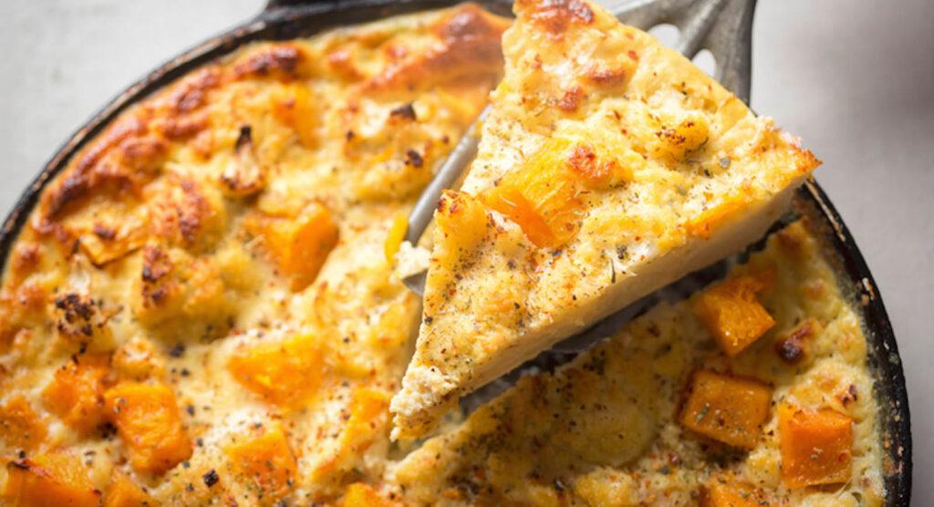 La frittata di zucca, una ricetta spettacolare con pochi ingredienti e velocissima. Solo 230 calorie!