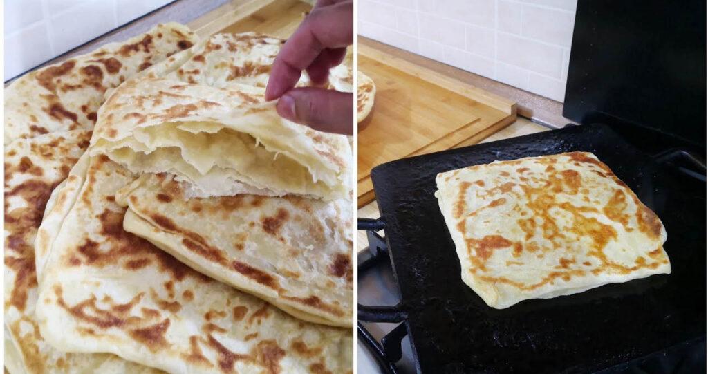 Pane marocchino cotto in padella e velocissimo da fare. Ha solo 100 calorie!