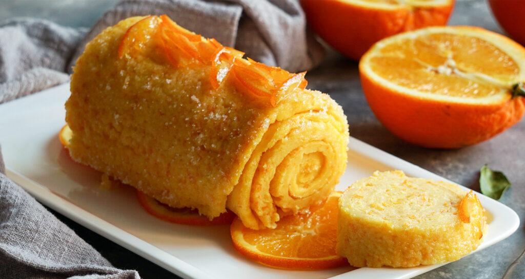 Il rotolo all'arancia super dietetico che si prepara in pochissimo tempo. Ha solo 75 calorie!