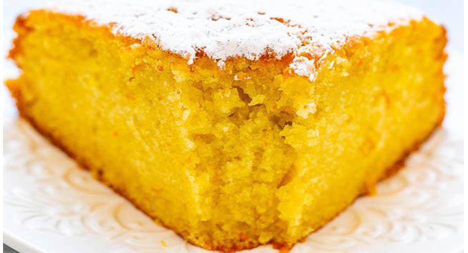 La torta con scorza d'arancia, un dolce economico, gustoso e con sole 170 calorie!