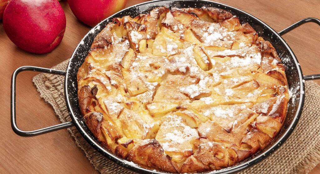La torta di mele light che si cuoce in padella, velocissma e gustosa!