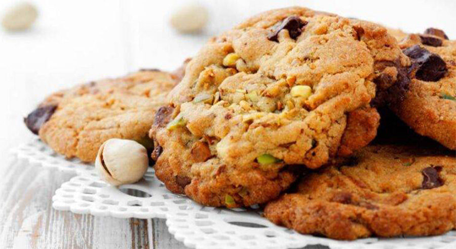 I biscotti light con pistacchi e gocce di cioccolato. Solo 40 Kcal!