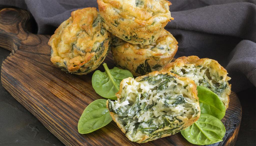 Tortini di spinaci e quinoa, una ricetta super sfiziosa. Solo 120 Kcal!