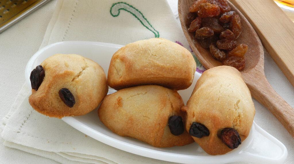 Biscotti della nonna all'uvetta, mangiateli e non vi pentirete. Solo 55 Kcal!