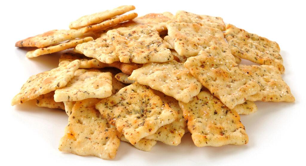 Cracker salati integrali: uno snack sfizioso per chi è a dieta. Solo 140 Kcal!