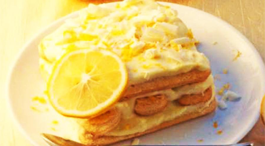 Il tiramisù al limone senza mascarpone: buonissimo, fresco e con poche calorie