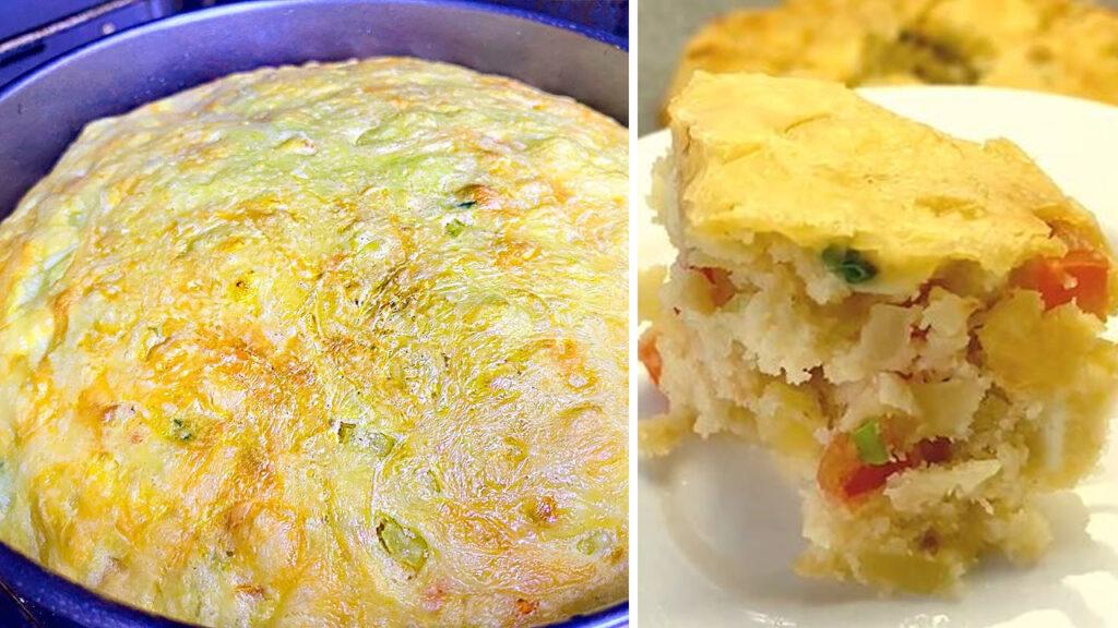 La torta di verdure salvacena, sofficissima e sfiziosa per chi è a dieta. Solo 280 Kcal!