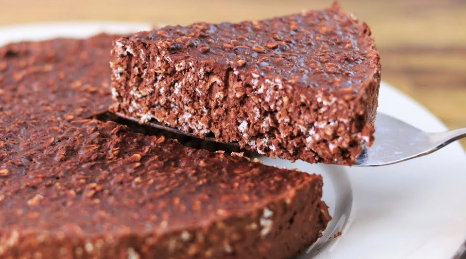 La chocolate oatemal cake, la torta 3 ingredienti SENZA farina, burro e uova!