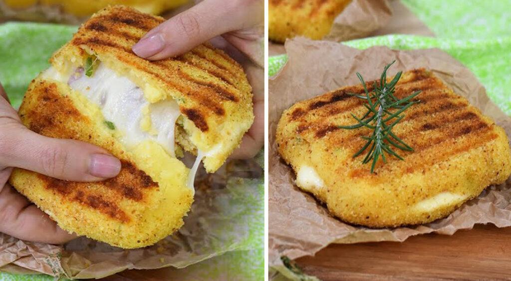 Toast di patate SENZA FARINA, con prosciutto e formaggio per una cena velocissima e squisita!