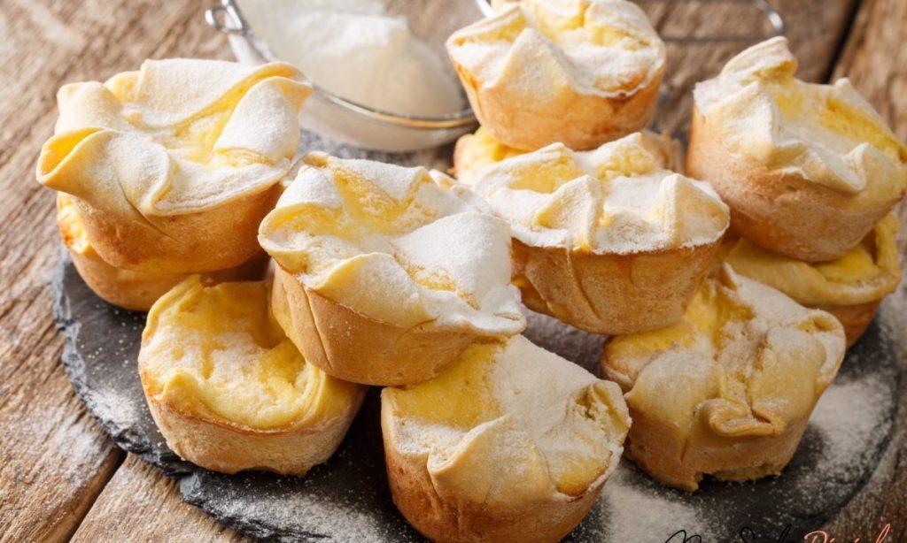 Più buoni dei muffin! I soffioni abruzzesi ripieni di crema alla ricotta, super deliziosi!