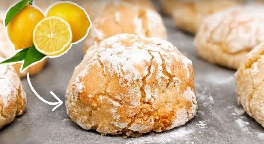 Biscotti al limone senza burro e latte, così buoni non li avete mai provati. Solo 65 Kcal!