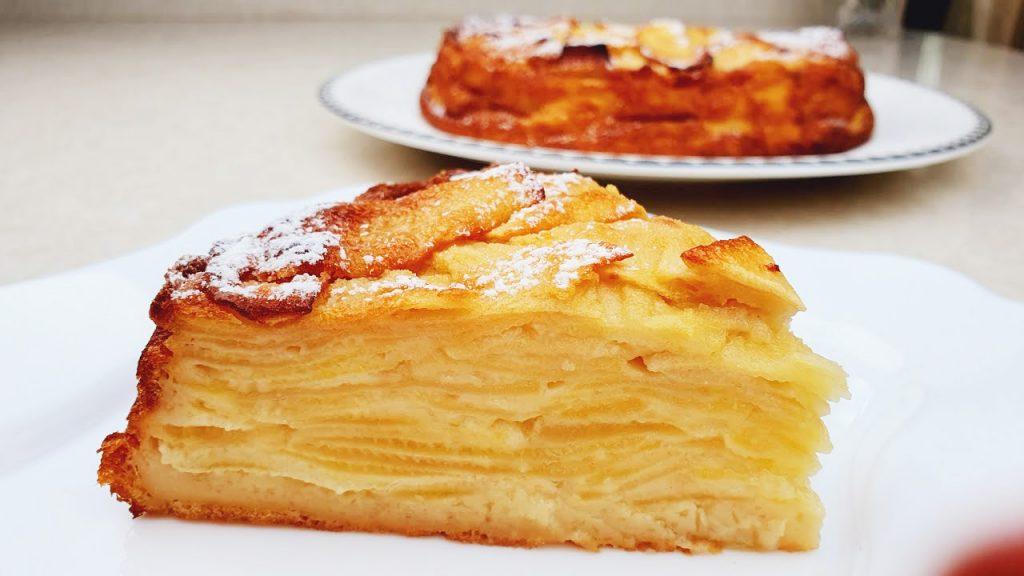 Avete 5 mele? Fai questa torta con poca farina e tantissime mele. Ha solo 110 Kcal!