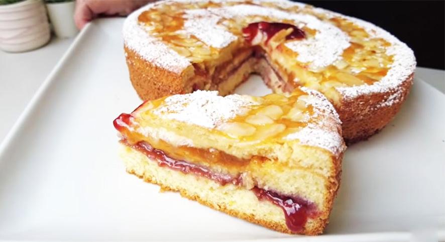La torta versata a 3 strati con doppia farcitura, light e sofficissima. Solo 170 Kcal!