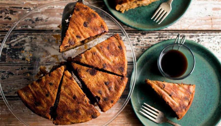 La torta al cappuccino 12 cucchiai senza burro, ottima per la colazione. Solo 120 Kcal!