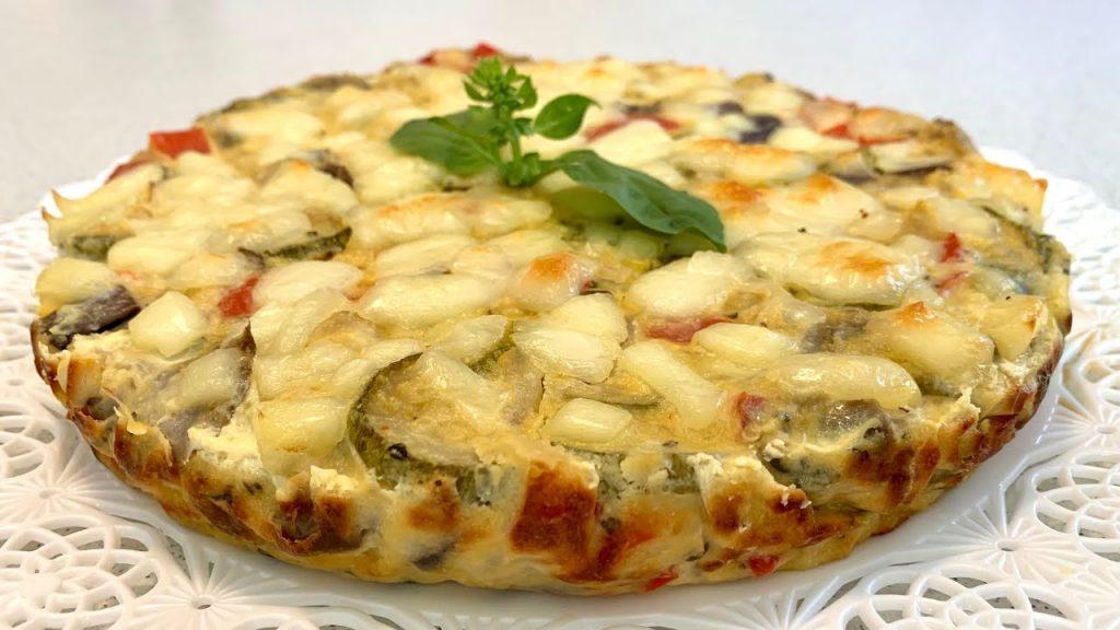Torta di verdure salata, ultra dietetica ottima per perdere peso. Solo 140 Kcal!