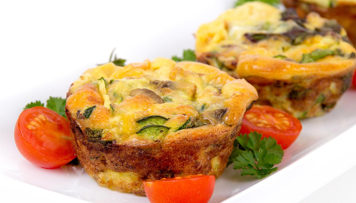 Muffin di zucchine e parmigiano