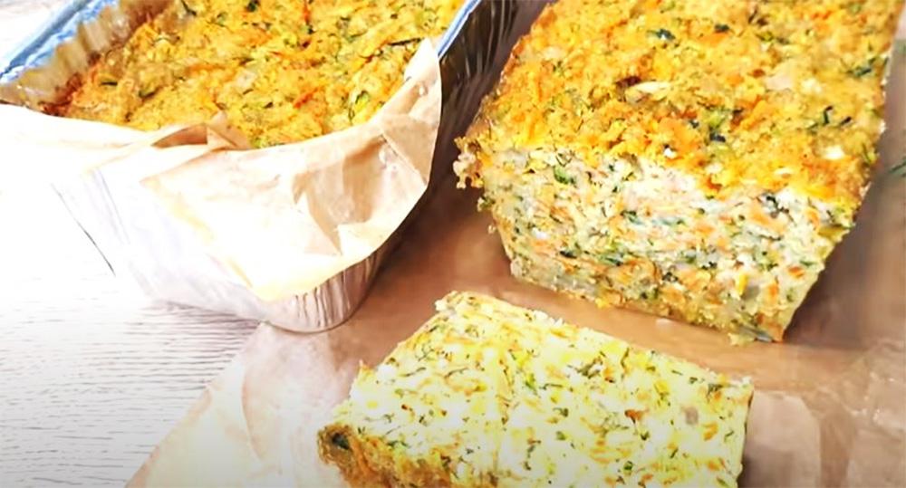 Pane di zucchine, con pochissima farina e super dietetico. Ha solo 120 Kcal!