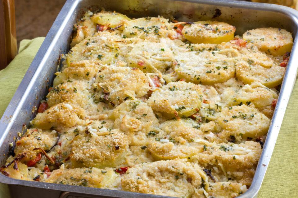 Parmigiana dietetica? Si, ma con zucchine e patate, senza frittura. Solo 330 Kcal!