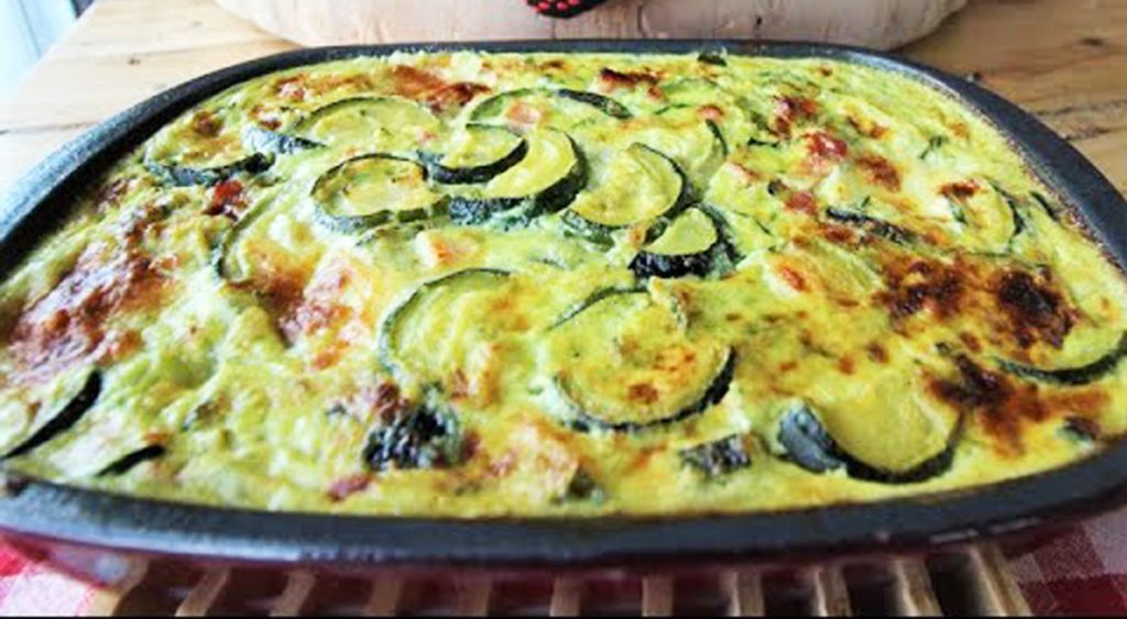 Il pasticcio di zucchine con pochissime calorie, perfetto per perdere peso. Solo 170 Kcal!