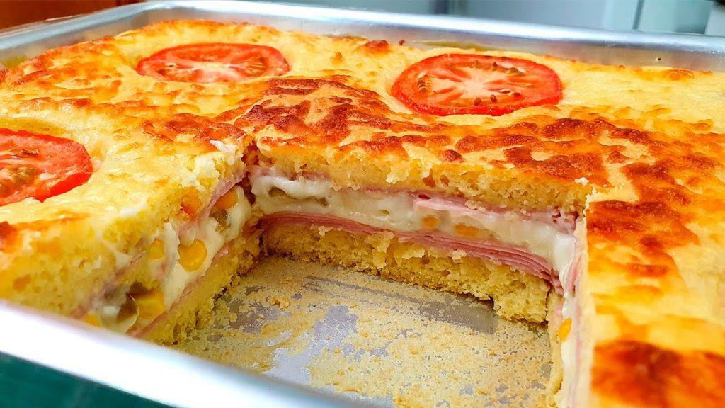 Lo sformato ripieno al prosciutto e formaggio, delizioso. Ha solo 250 Kcal!