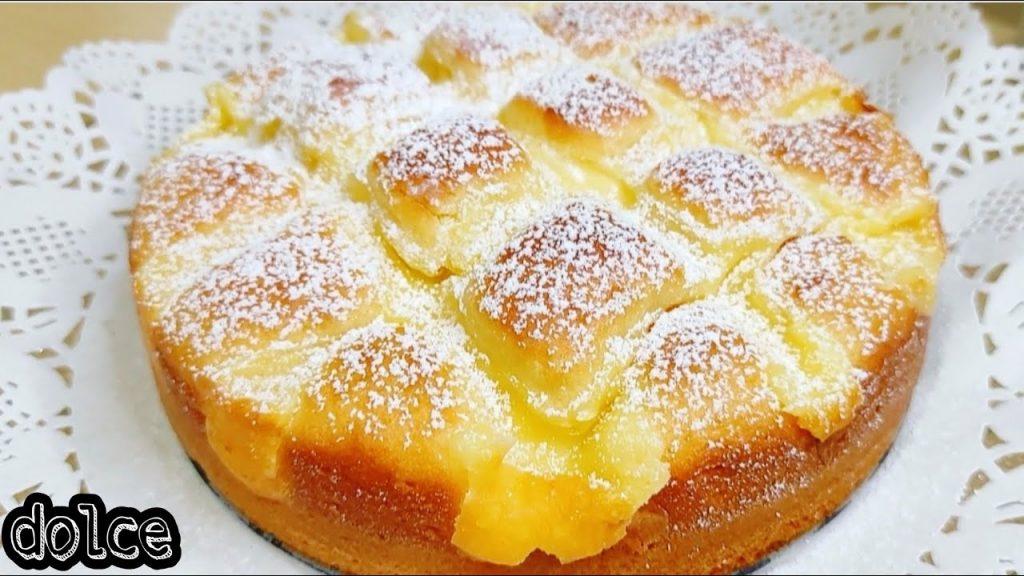 La torta alla crema, così buona che la farete ogni settimana. Solo 170 Kcal!