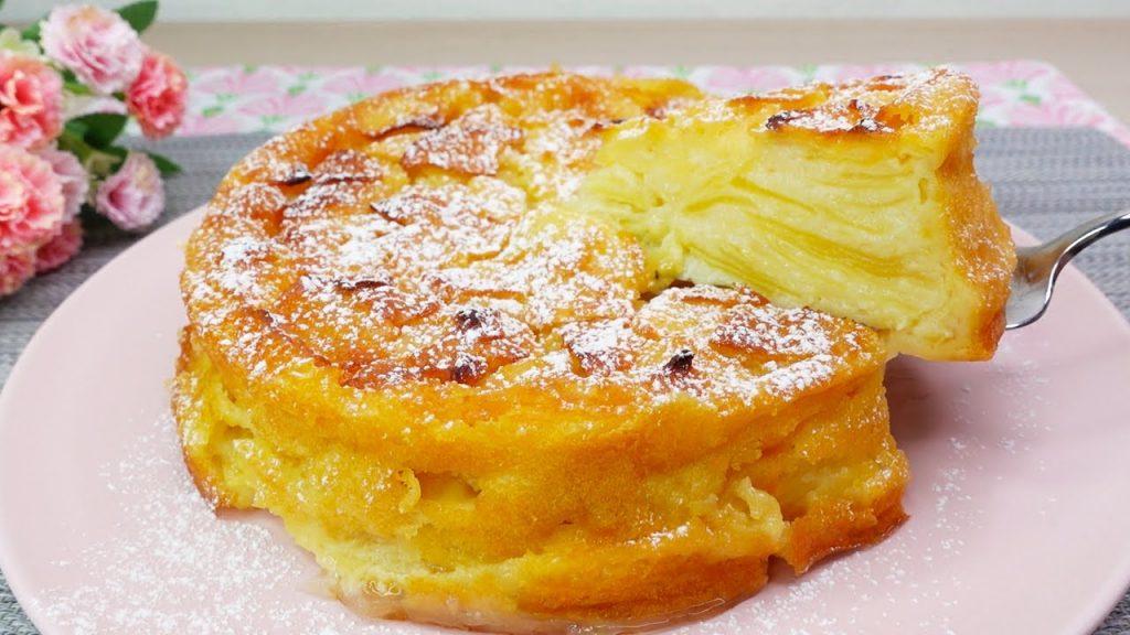 5 mele e pochissima farina, la torta super cremosa e dietetica. Ha solo 150 Kcal!