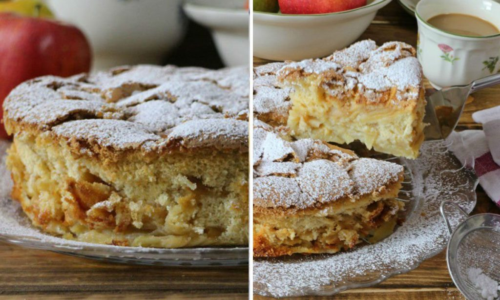 La torta francese 3 X 9, con tante mele e poca farina, dietetica. Ha solo 150 Kcal!
