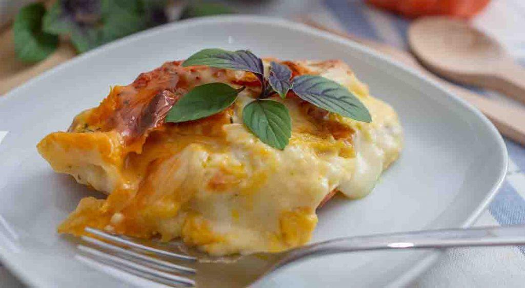 La zucca gratinata al forno, l'avete mai mangiata così? E' deliziosa e ha solo 160 Kcal!
